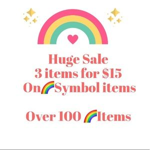 🌈3 items for $15 plus shipping FLASH SALE!😁🌈